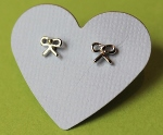 Little Bow Silver Earrings