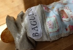Patchwork Linen Baguette Bag~ French Powder Blue