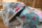 Linen Patchwork Bread Bag~ Girly French Pastries