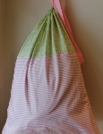 CUSTOMIZABLE LAUNDRY BAG~PINK AND GREEN