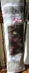 Patchwork Baguette Bag~ Pink and Chocolate Brown