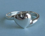 PUFFED HEART STERLING SILVER RING