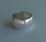 ROUNDED SILVER BAND