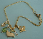 LITTLE BIRD AND BUTTERFLY CHARM BRACELET