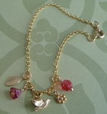 BABY BIRD GOLD PLATED CHARM BRACELET