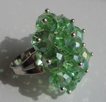 PERIDOT GREEN COCKTAIL RING