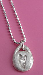 KEY TO MY HEART FINE SILVER NECKLACE