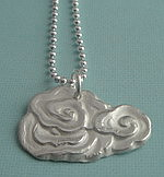 ROLLING CLOUDS FINE SILVER NECKLACE