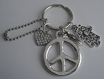 KEYCHAIN ~ LOVE AND PEACE