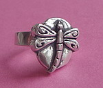 PEWTER RING ~ DRAGONFLY