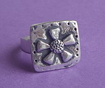 PEWTER RING ~ FLOWER 3