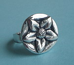 PEWTER RING ~ FLOWER 2