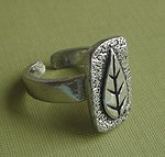 PEWTER RING ~ LEAF