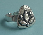 PEWTER RING ~ LOTUS FLOWER