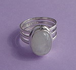 STRIPED MOONSTONE RING