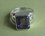 FUNKY SQUARE AMETHYST RING