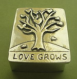 WISH BOX AND NECKLACE SET~PEWTER~LOVE GROWS
