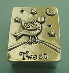 WISH BOX AND NECKLACE~PEWTER ~ TWEET