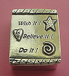 WISH BOX AND NECKLACE~PEWTER ~ WISH BELIEVE DO