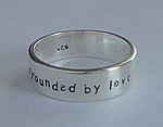 ALLI'S STAMPED RING~ SURROUNDED BY LOVE