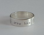 ALLI'S STAMPED RING ~ GROW LOVE