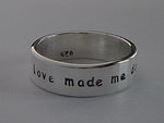 ALLI'S STAMPED RING~ LOVE MADE ME DO IT