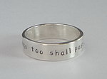 ALLI'S STAMPED RING~ THIS TOO SHALL PASS