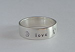 ALLI'S STAMPED RING~ LOVE