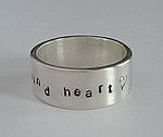 ALLI'S STAMPED RING~ KIND HEART