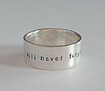 ALLI'S STAMPED RING~ I WILL NEVER FORGET WHO I AM