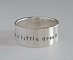 ALLI'S STAMPED RING~ DREAM A LITTLE DREAM