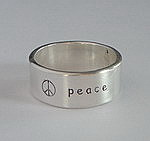 ALLI'S STAMPED RING~ PEACE