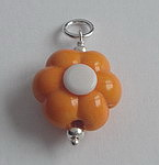 GLASS BEAD~TANGERINE FLOWER