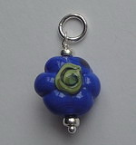 GLASS BEAD~BLUE FLOWER