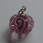 GLASS BEAD~CHERRY SWIRLS