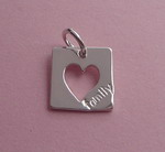 OPEN HEART SQUARE TAG~ FAMILY