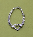 Open Heart Chain Ring