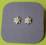 Silver Daisy Studded Earrings