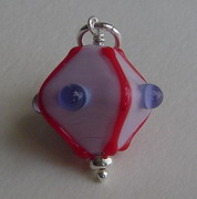 DIAMOND SHAPED GLASS BEAD CHARM