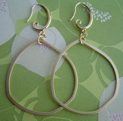 GOLD PLATED HOOP DANGLES
