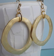GOLD PLATED BRUSHED FINISH HOOPS