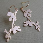 GOLD PLATED CHERRY BLOSSOM EARRINGS