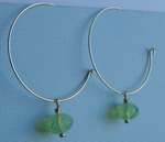 GOLD PLATED HOOP DANGLES WITH BEADS