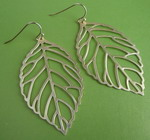LEAVES GOLD PLATED EARRINGS