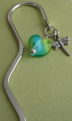 BOOKMARK ~ DRAGON FLY CHARM