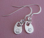 LOVE AND PEACE SILVER EARRINGS